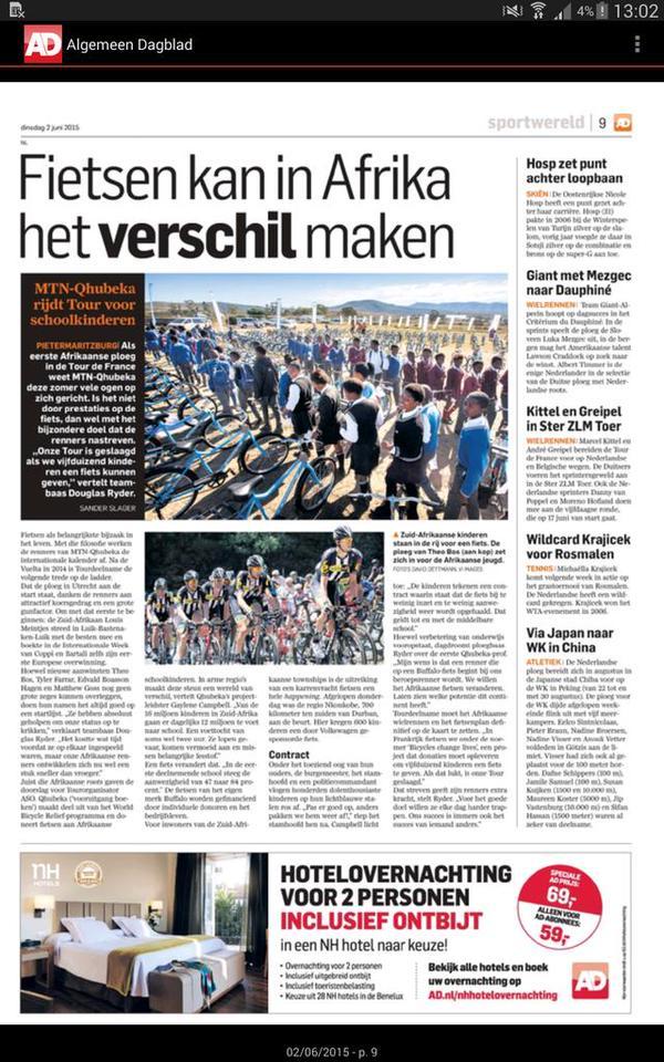 Het artikel, zoals verschenen in het AD (c) Theo Bos